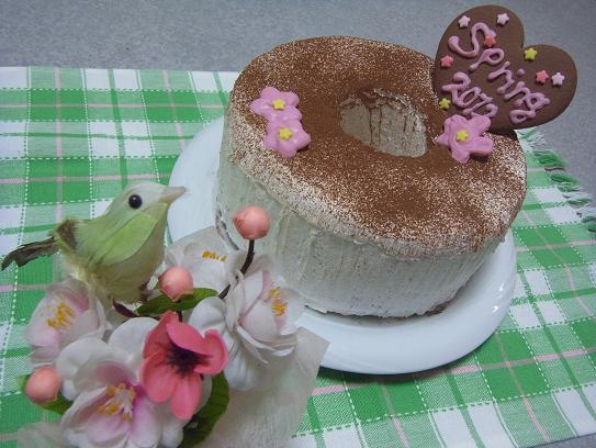 2012.3.3分 日常 ひな祭りぽくなったケーキw 3