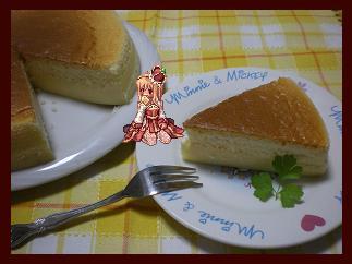 スフレチーズケーキ にとり(←にわか + ゆとり)添え(枠付き)