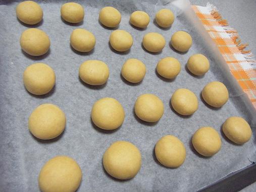 2012.4.11分 日常 きな粉スノーボールクッキー 2