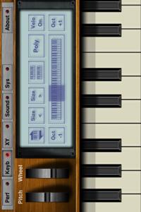 iPhoneでピアノ
