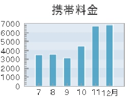 電話料金グラフ