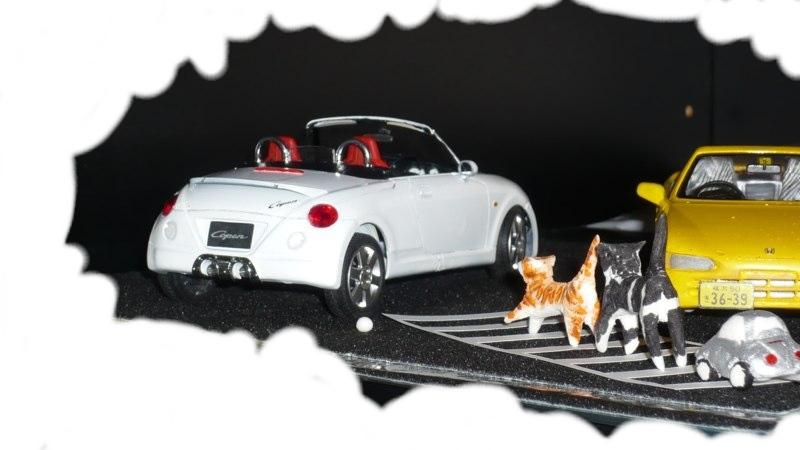 猫の行進プラモ
