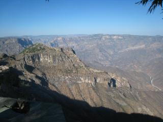 銅渓谷の眺め