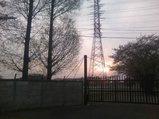 朝霞駐屯地の夕日