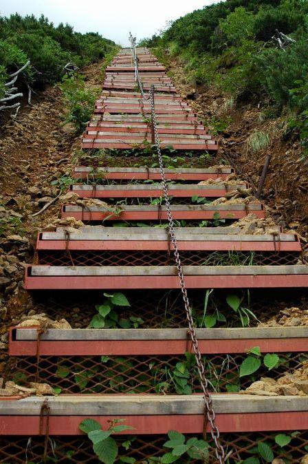 20110811-6文三郎尾根階段