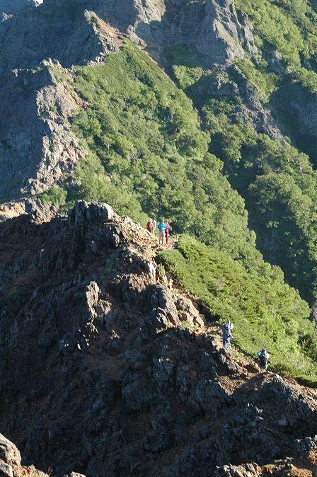 20110812-赤岳天望荘から見た横岳2