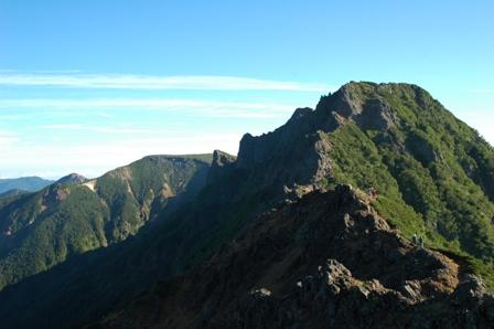 20110812-赤岳天望荘から見た横岳