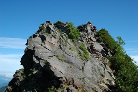 20110812-5三叉峰後はしご