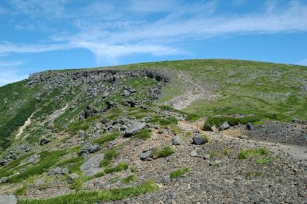20110812-7硫黄岳山荘から見た硫黄岳