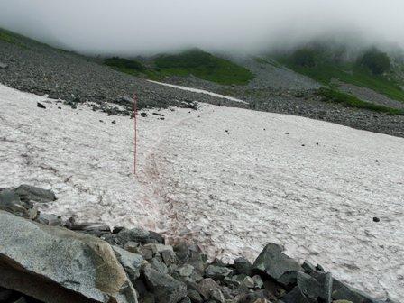 20110817-2 涸沢、雪渓
