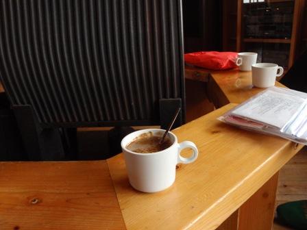 20110817-5 穂高岳山荘コーヒーtime