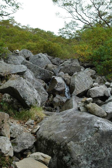 20110923_09駒峰へ3沢沿いを登る