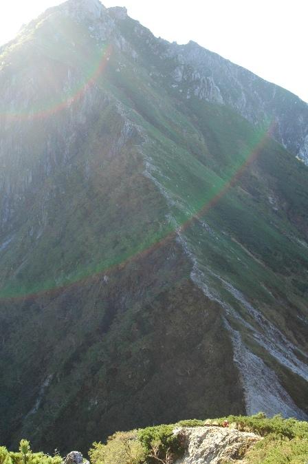 20110924_07空木の急斜面を振り返る