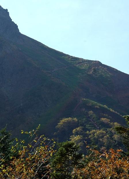 20111001-14行者小屋から見た文三郎