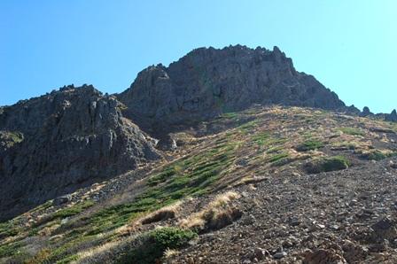 20111001-23中岳分岐からみた赤岳