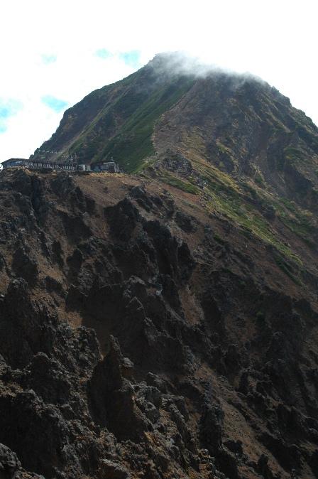 20111001-32地蔵尾根から見た天望荘2