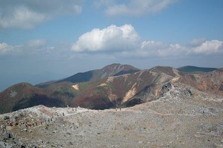 20111008-12茶臼岳より眺めた三本槍