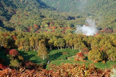 20111009-10隠居倉紅葉と源泉