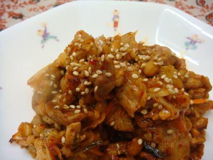 豚キム納豆