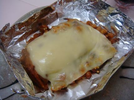 豚キム納豆チーズ