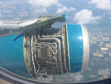 飛行中のエンジン故障