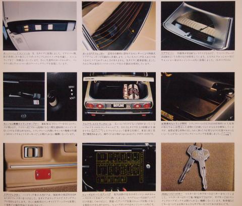 77年8月 スカイラインGT 装備