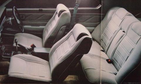 80年12月 スカイラインターボGT-E・X シート