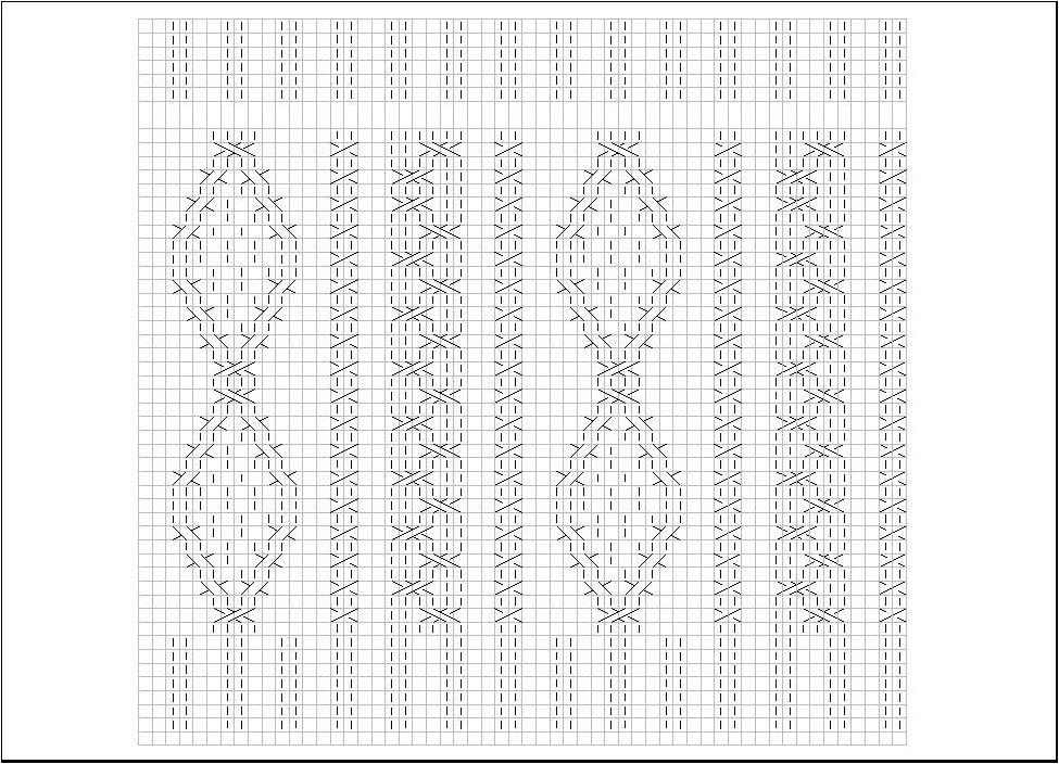 レッグウォーマー編み図