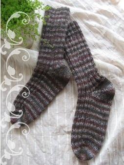 段染め糸の靴下