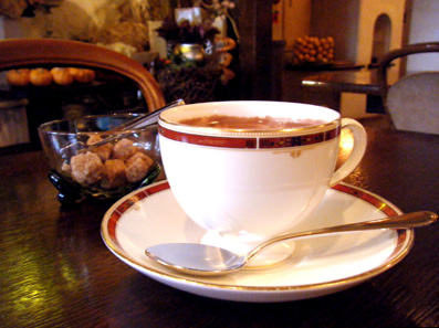『CAFE FLEURANT(カフェ フルーラン)』のホットチョコレート