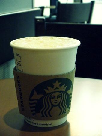 『スターバックス』の抹茶 ホワイト チョコレート