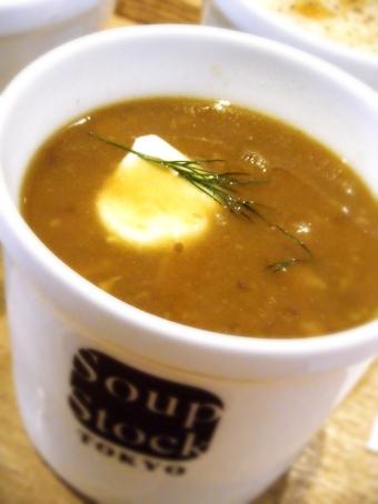 『Soup Stock Tokyo(スープストックトーキョー)』の鶏と玉葱のスープ バルサミコ風味