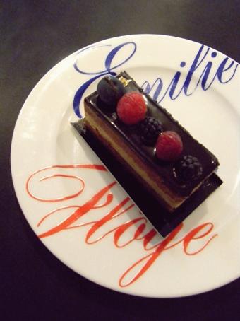 『エミリーフローゲ』のチョコと紅茶のムース
