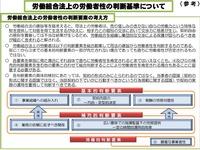 20110802労働組合法上の労働者性の判断基準