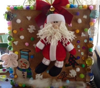 娘の作品 サンタの飾り