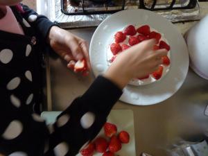 誕生日ケーキ作り2