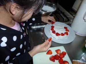 誕生日ケーキ作り
