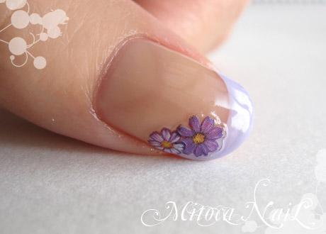 むらさき色のお花フレンチ