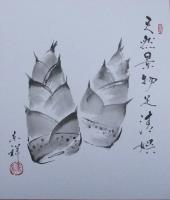 タケノコの色紙