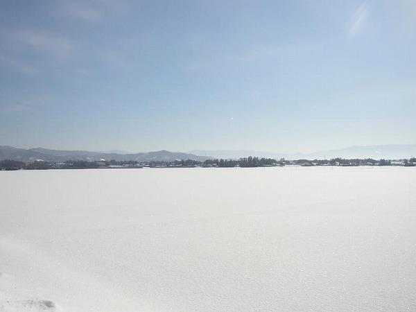 山形田んぼ雪