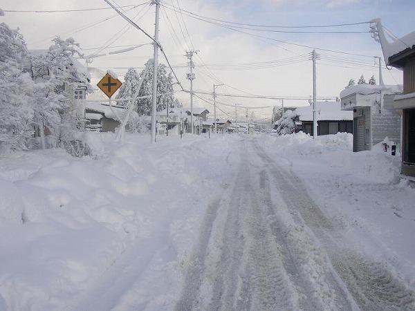 長井市の冬