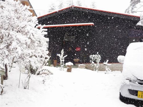 安曇野の雪長野