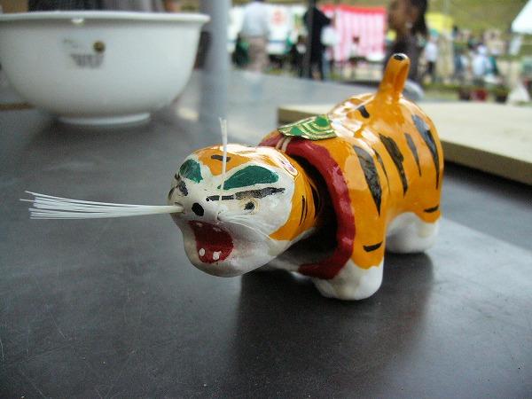 今日作った張子の虎