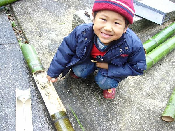 牡蠣の竹飯