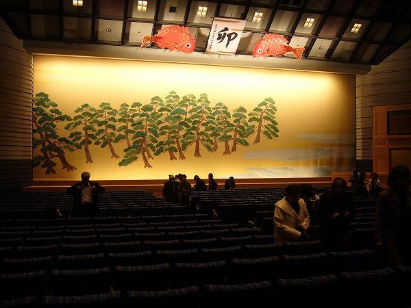 文楽劇場舞台