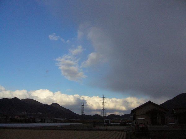 雪の雲と晴れ