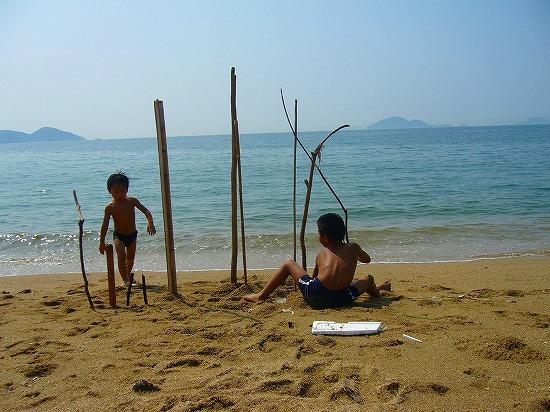 砂浜アート