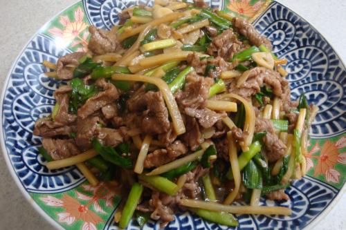 100313-010牛肉と野菜のオイスターソース炒め(縮小)
