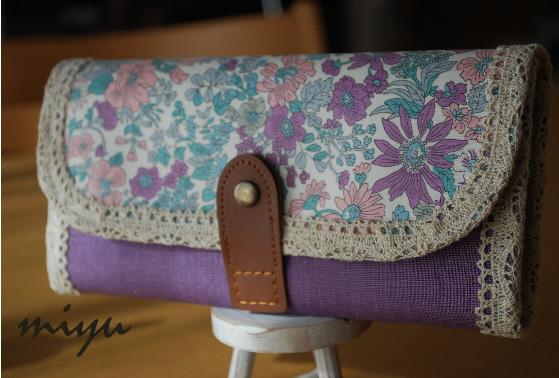 長財布(エミリー紫×紫)1