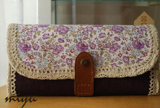 長財布(フェリシテ・紫)1